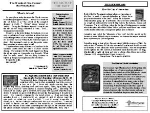 advent | The Facts of the Faith: Bulletin Inserts for Churches